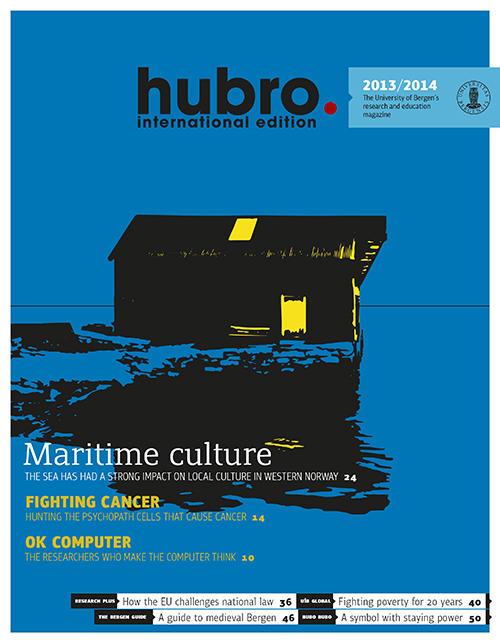 Front page of Hubro international 2013/2014. / Forside Hubro international...