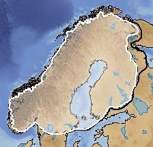 Scandinavian Ice Sheet during Younger Dryas (12ka)