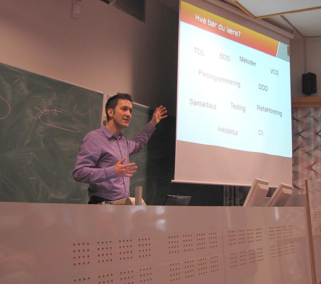 Pär Wiger forteller om programmeringsteknikker som Miles-konsulentene gjerne...