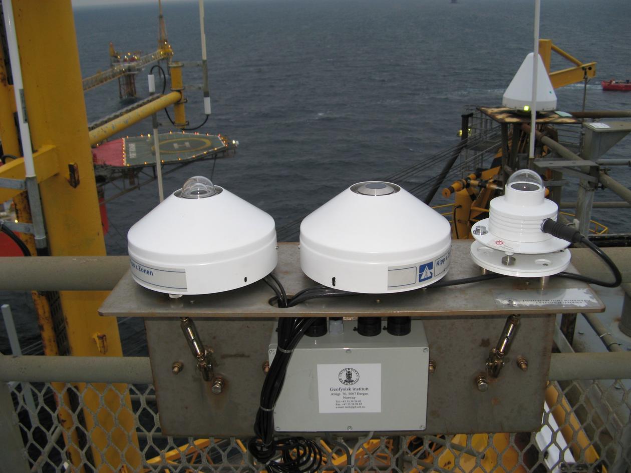 Radiation instruments at EKOFISK measuring global -, atmospheric -, and UV -...