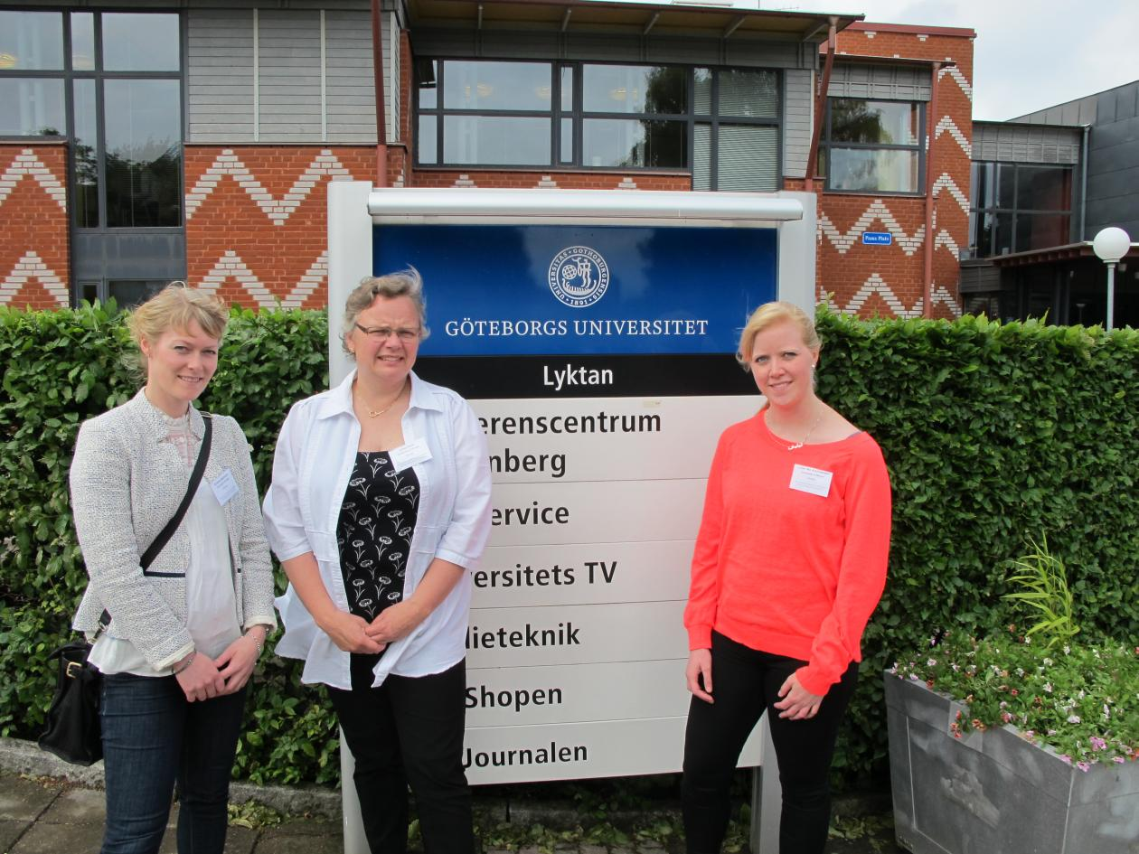 Participants from Bergen outside the Conference Center Wallenberg in Gothenburg.
