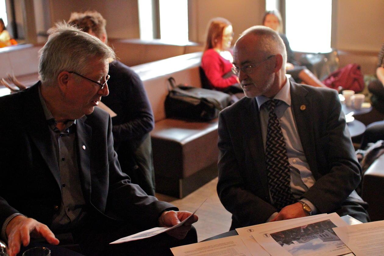 Tidligere samme uke presenterte rektor Sigmund Grønmo Museumsprosjektet for...