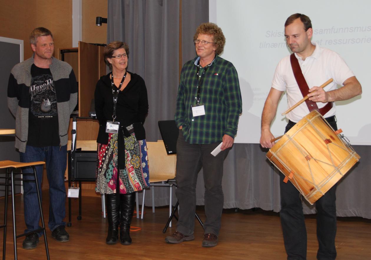 PhD candidate Viggo Krüger, oponent Gro Trondalen and moderator Brynjulf...