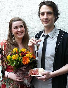 Ressigørene Jade Hærem Aksnes og Stian Hafstad under premieren på Et...