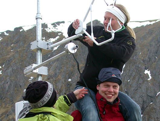 GFI-studenter på feltkurs på Andøya