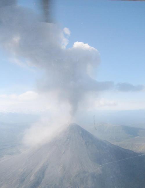Eruption of Karymsky Volcano,Kamchatka, Russia, August 2005