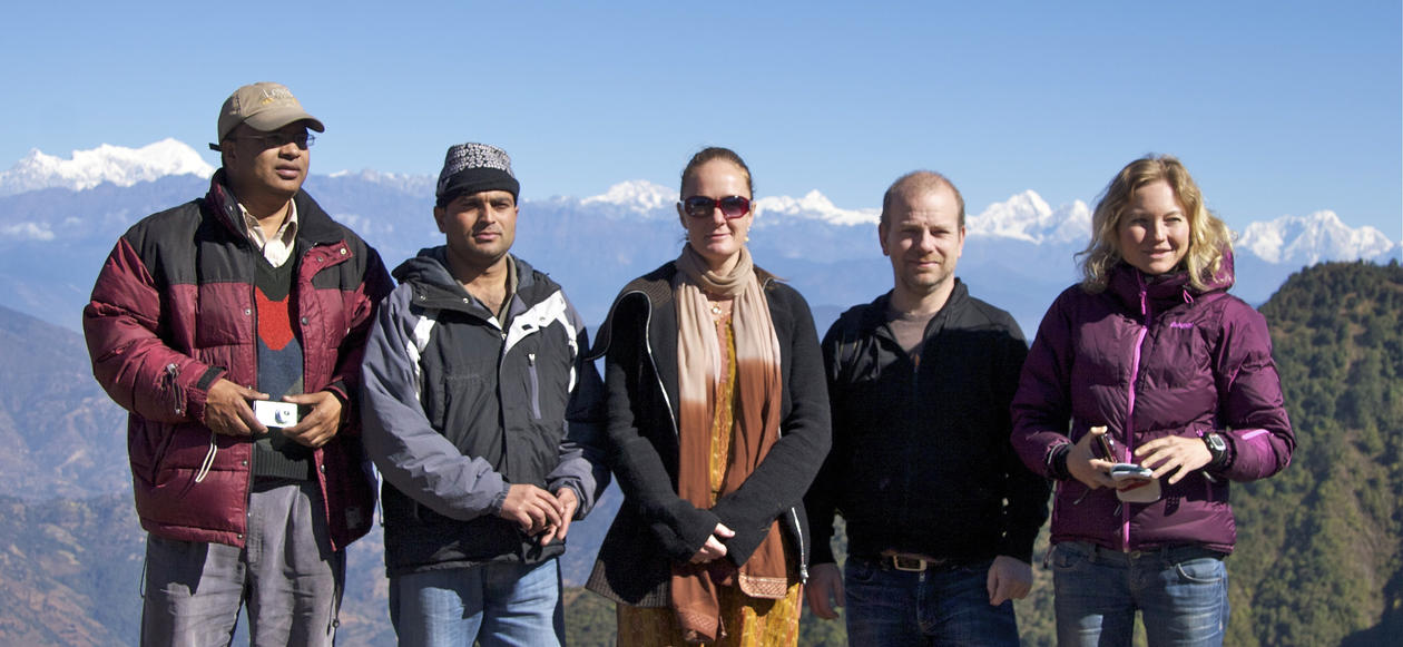 HIMALINES: Participants from Nepal and Bergen seen here on an excursion to...