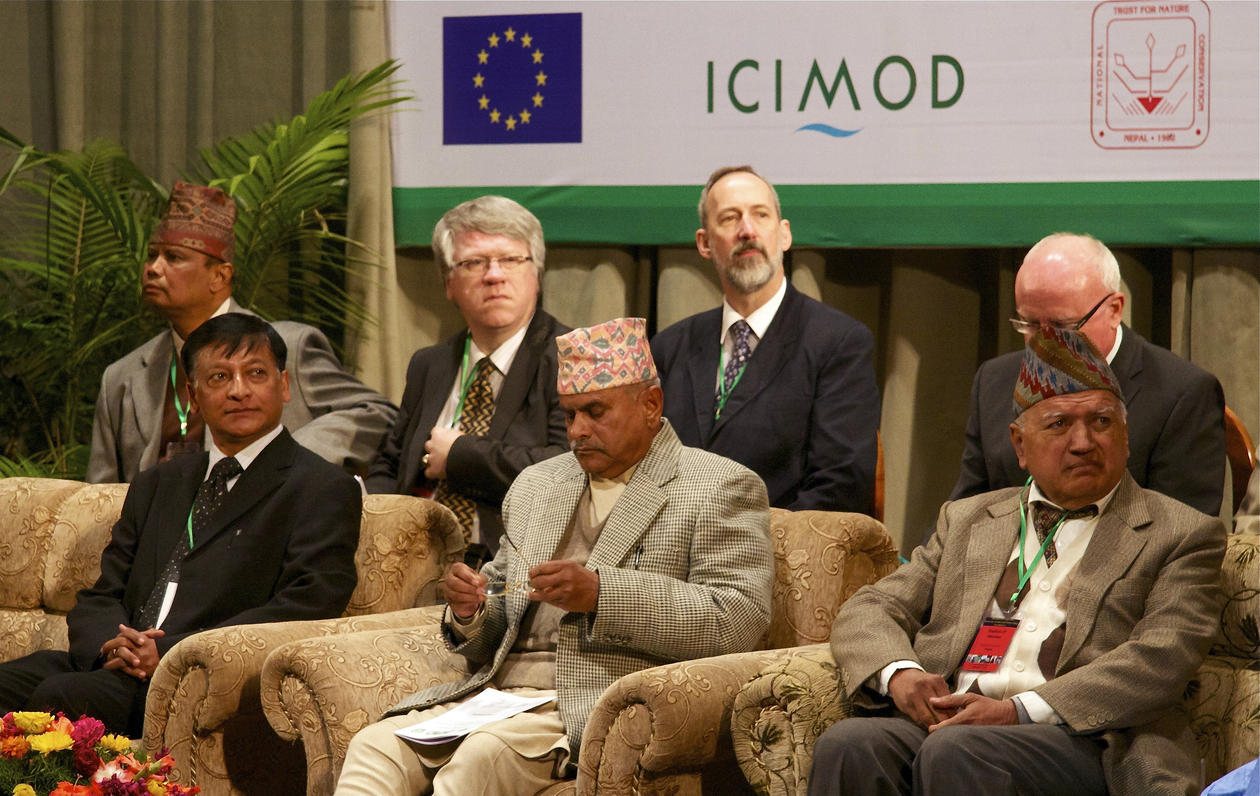 PROMINENT GUESTS: Behind from left: Ram. P. Chaudhary, professor of botany at...