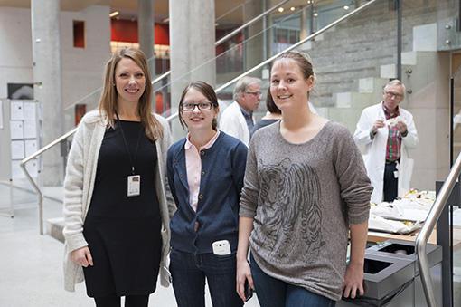 Komitéen bak Forskningspresentasjoner 2013. Fra venstre: Ina Nepstad, Maria...