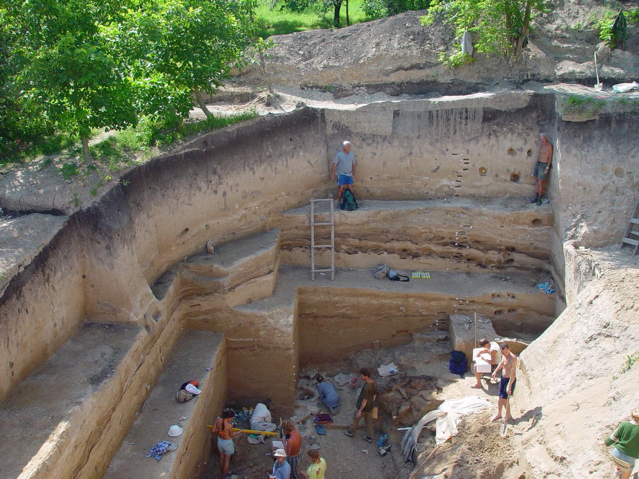 Excavation - Kostenki, Russia.