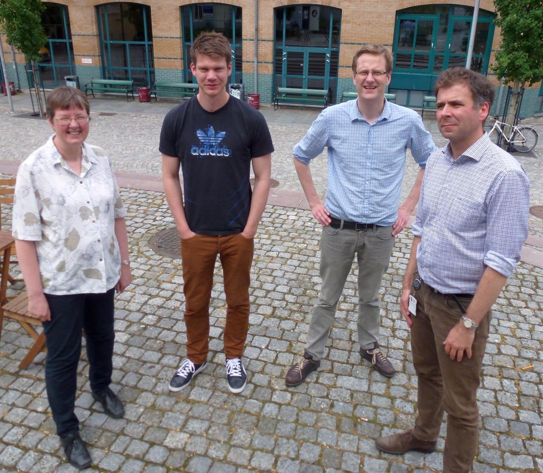 Grete Rusten, Helge Lea Tvedt, Håvard Haarstad og Knut Hidle fra Institutt...