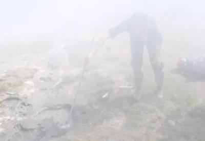Sampling in Kamchatka (Russia), August 2005