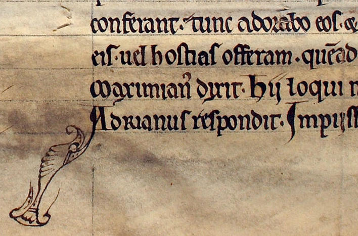 Lectionary from the twelfth century, probably written in Lund. Riksarkivet,...