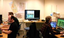 "På dette ""laboratoriet"" på SV-bygget tilbrakte teamet en intens uke med..."