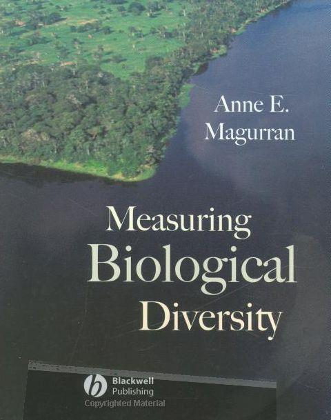 """Cover of """"Measuring Biological Diversity"""", Blackwell"""
