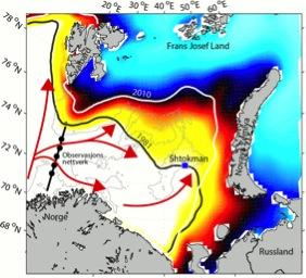 More Atlantic heat causes less Arctic sea ice, as observed locally in the...