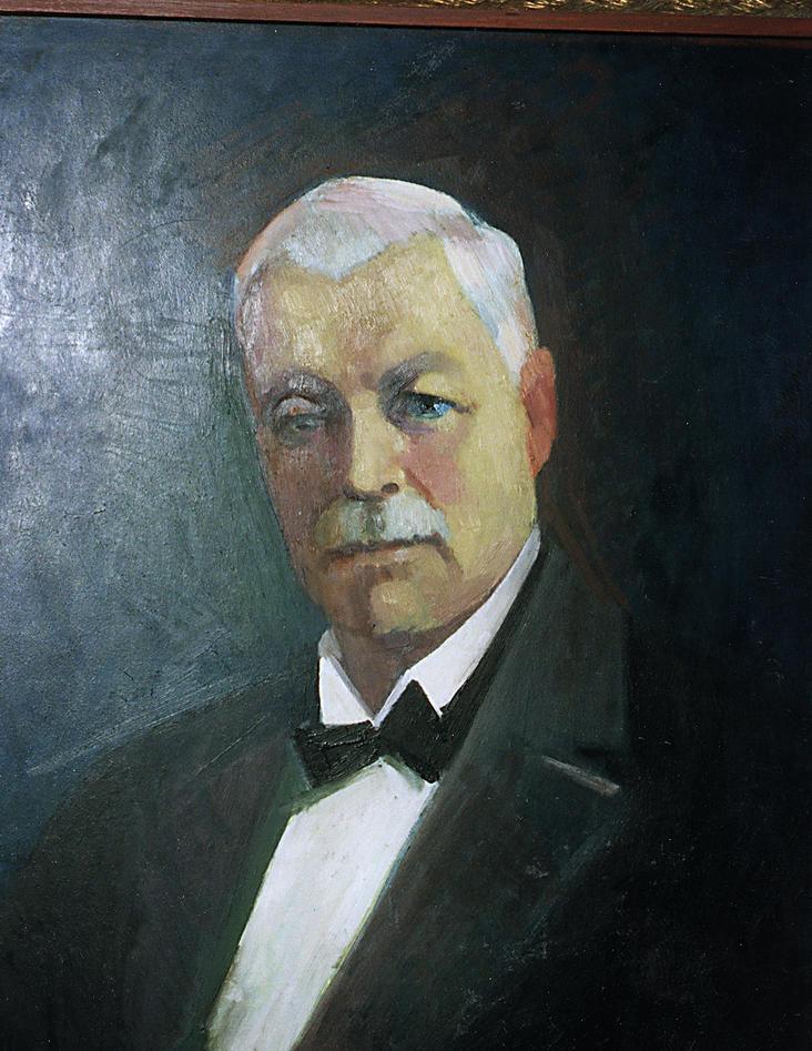 Lauritz Meltzer måla av Ansgar Larsen.