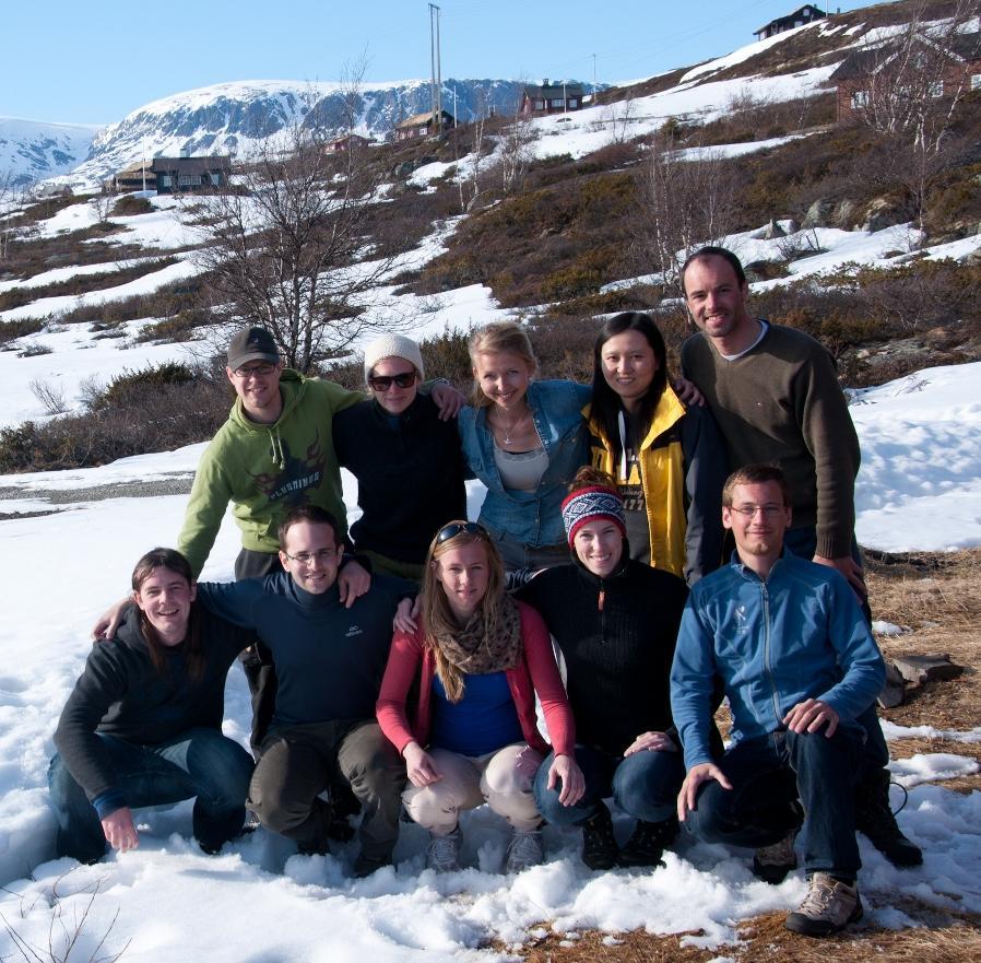 Students taking the Mesoscale Dynamics seminar in Ustaoset, spring 2012.