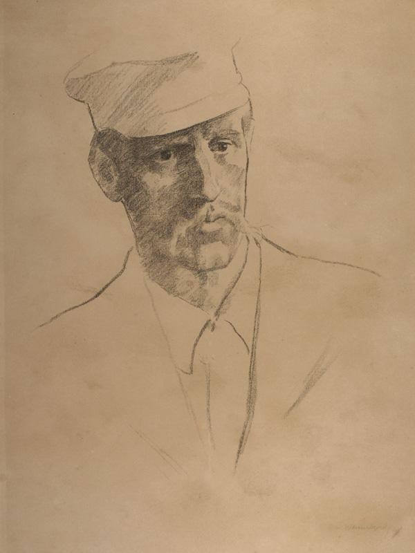 Erik Werenskiold: Fridtjof Nansen (detalj).