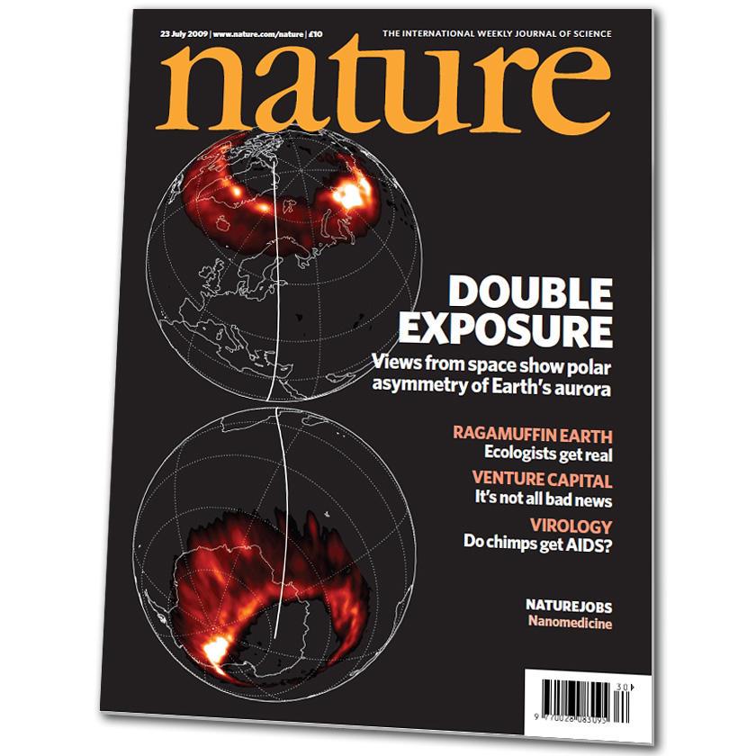 En illustrasjon fra UiB-forskernes artikkel pryder forsiden av siste nummer...