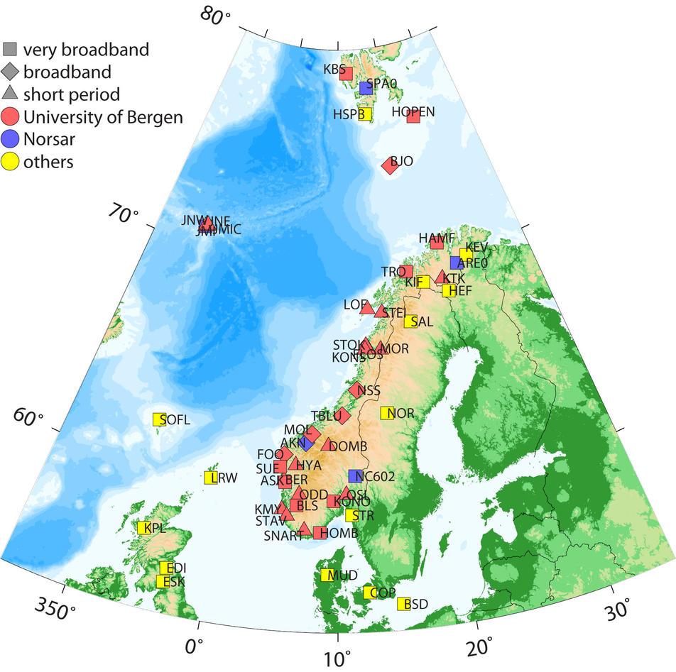 Map of the NNSN