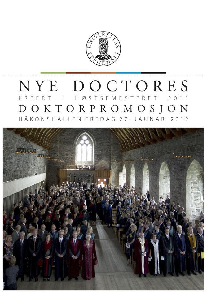 Doktorene vil, tradisjonen tro, bli hedret under årets doktorpromosjon i...