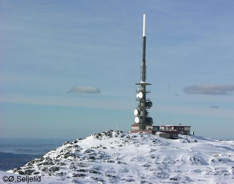 The location of the weather station at mount Ulriken