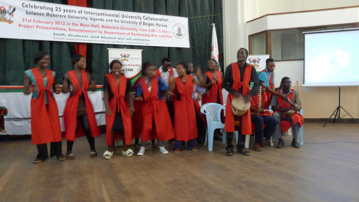 Students from Makerere University's Department of Performing Arts and Film...