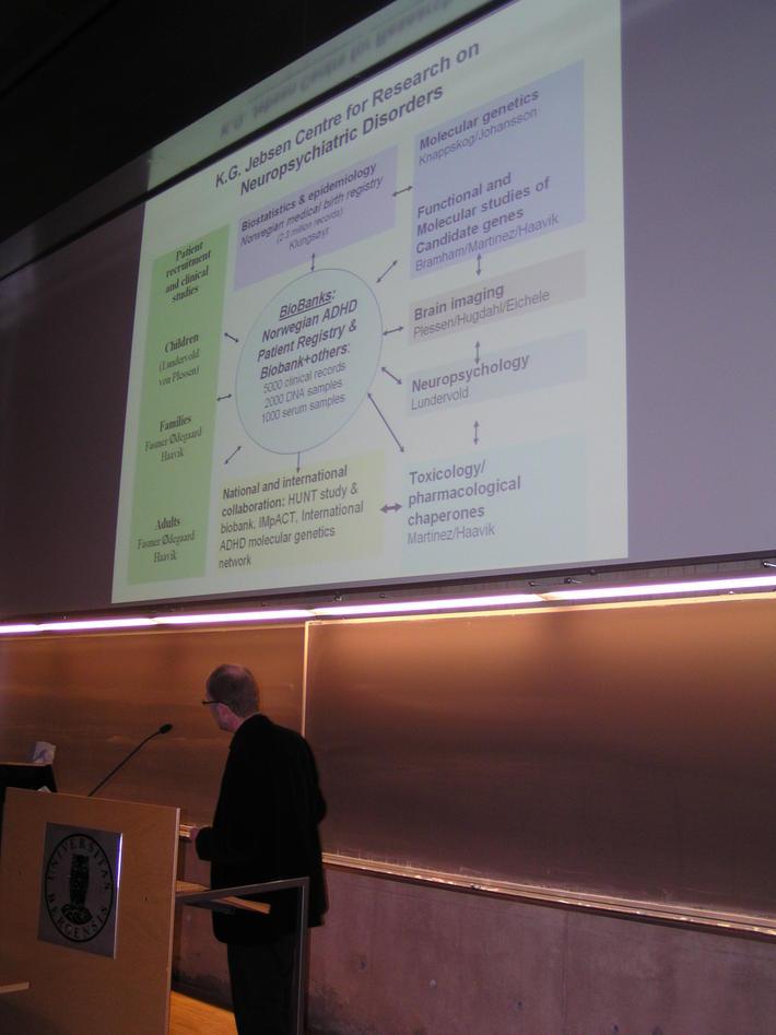 Presentation: K.G. Jebsen Centre for Research on Neuropsychiatric Disorders