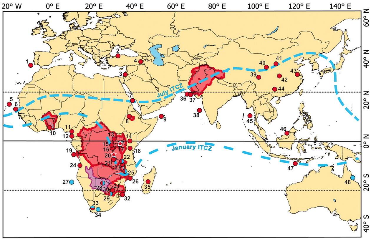 Kart som viser de hydrologiske forhold i studien. Se mer utfyllende...