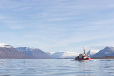 R/V Porsild in Disko Fjord