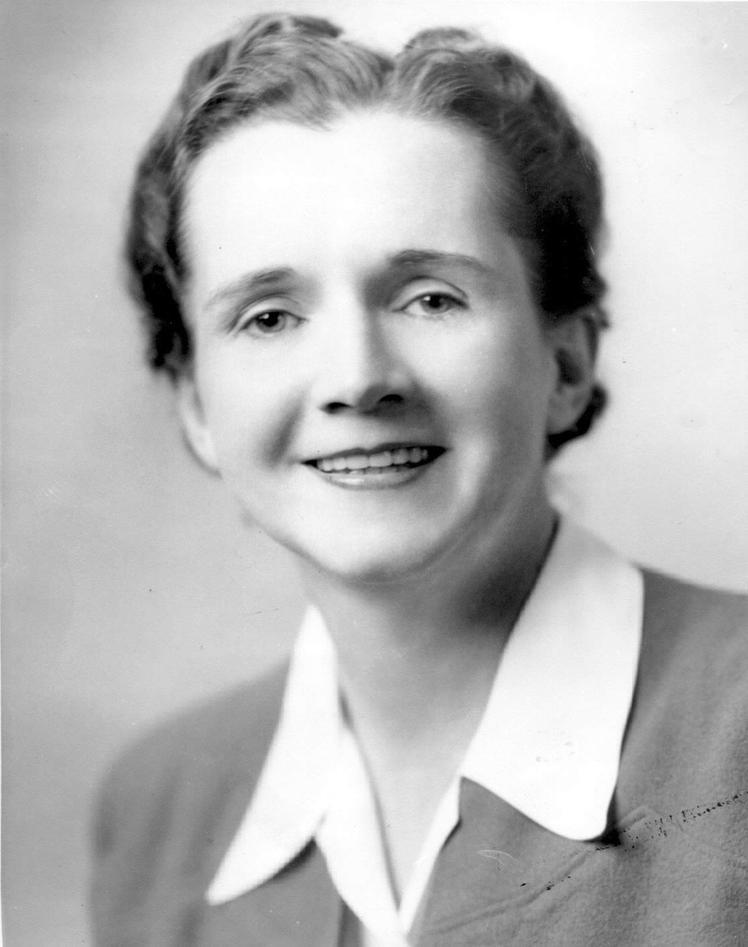 Rachel Carson var tilsett i United States Fish and Wildlife Service. Biletet...