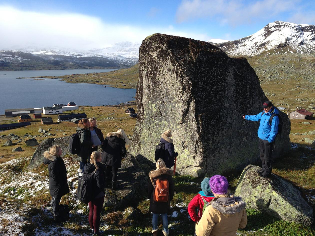 Mathew Reeve explains the dynamics of the wandering rock (glacial erratic) to...
