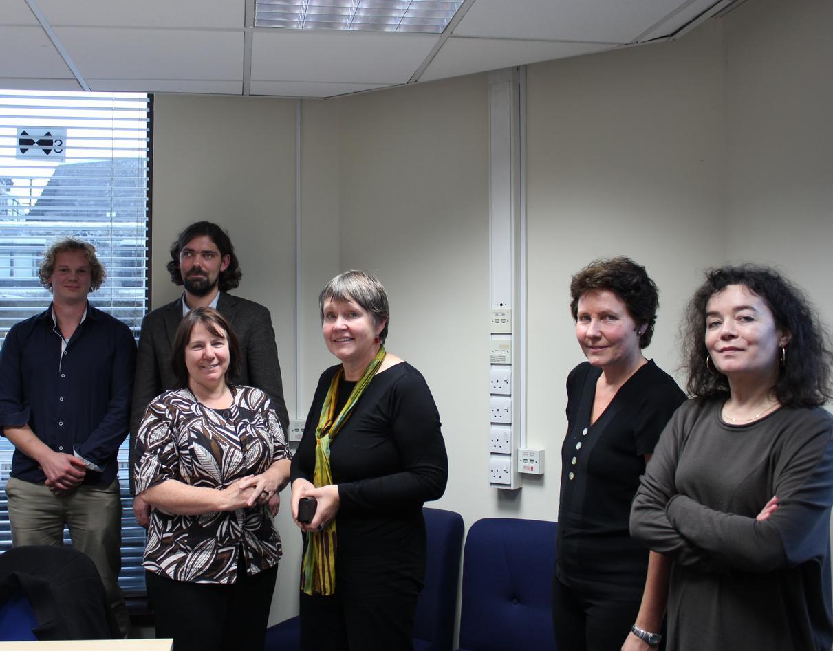 From the left: Bo Vignes, Kjetil Lundberg, Jill Manthorpe, Liv J. Syltevik,...