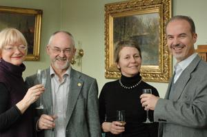 Celebration at Muséplass, from the left Berit Rokne, Sigmund  Grønmo, Astri...