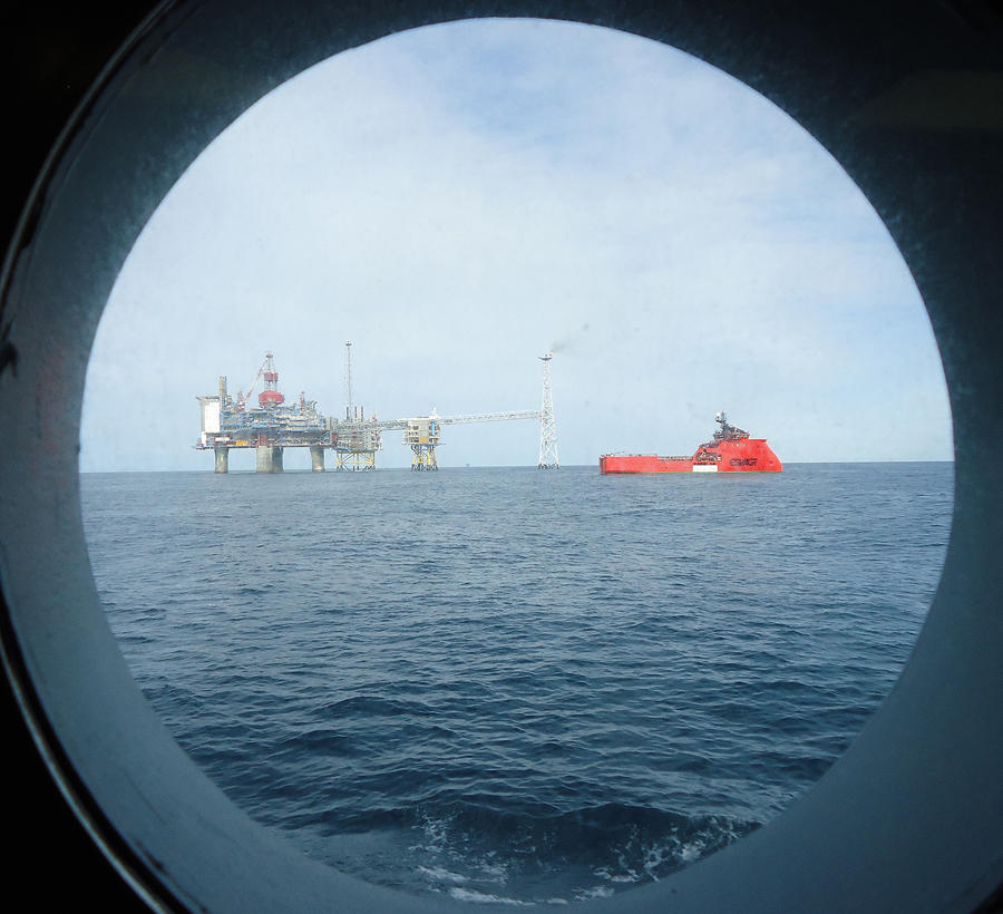 The Sleipner platforms in the North Sea