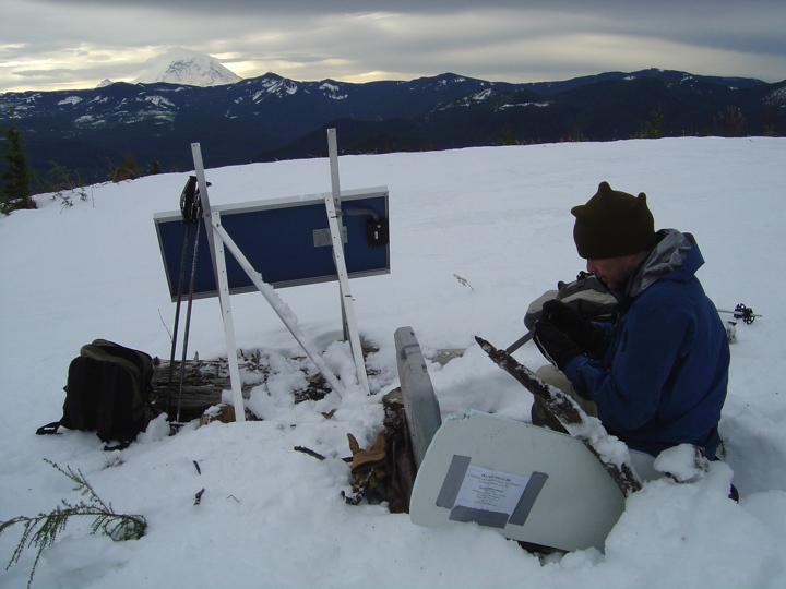 Seismic station installed above the Cascadia subduction zone (Washington...