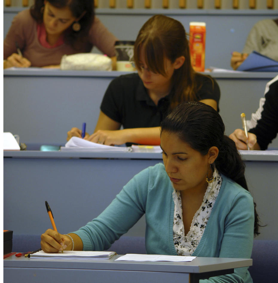 Jusstudenter på forelesning
