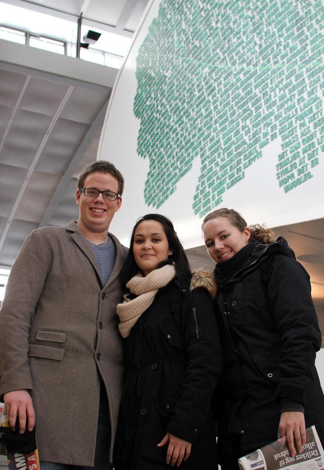 Ole Gunnar Krakhellen, Carmen Vie og Evy Ølberg likar seg godt ved UiB.