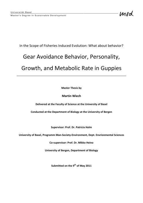 thesis for master