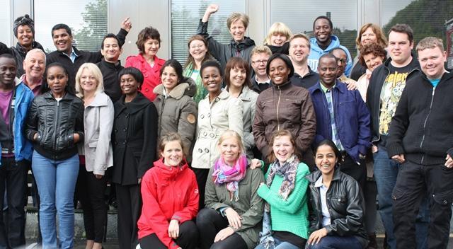 Studenter og ansatte ved Senter for internasjonal helse, 2012.