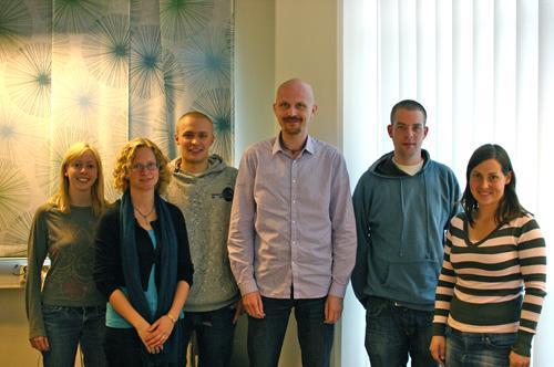 Wikipediateamet, avdeling Høyteknologisenteret: Fra venstre: Susanne Balzer,...