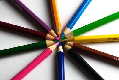 fargerike blyanter
