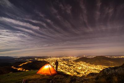 Bergen city at night