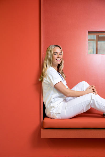 Line Bråten studerer tannpleie ved Universitetet i Bergen
