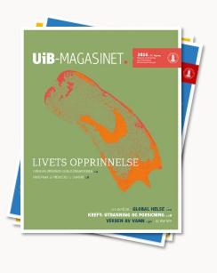 Bilde av bunke med UiB-magasiner