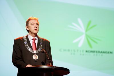Christiekonferansen 2010 ble åpnet av Gunnar Bakke, ordfører i Bergen.