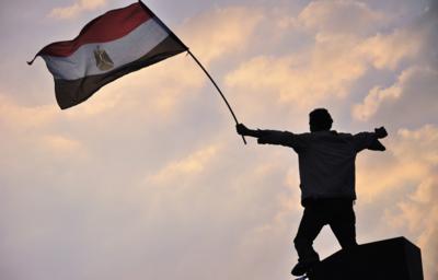 Tahrir-plassen i Kairo ble et senter for demonstrasjonene i Egypt....