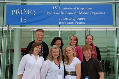 Professor, stipendiatar og masterstudentar deltek på Primo15 i Bordeaux, mai...
