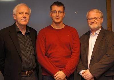 Geir Høstmark Nielsen (f.v.), Helge Holgersen og Dagfinn Winje fikk...
